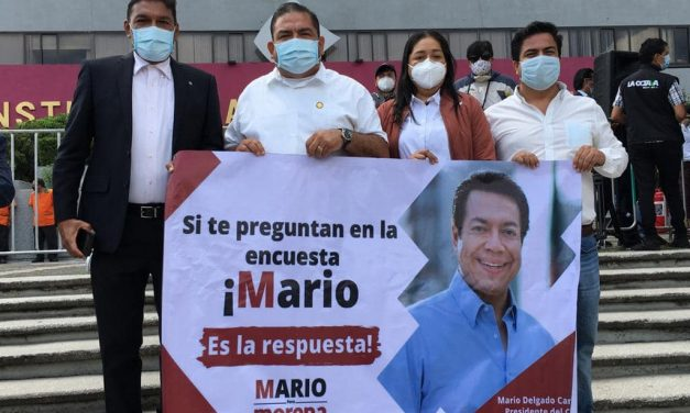 Cuatro diputados colimenses acompañaron el registro de Mario Delgado, como aspirante a presidir MORENA