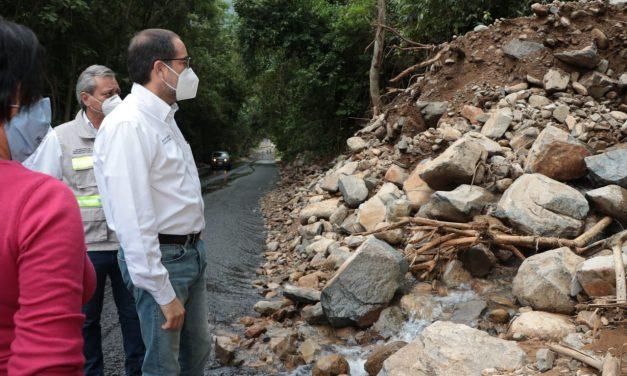 Recorre Nacho tramo afectado en carretera Villa de Álvarez-Minatitlán