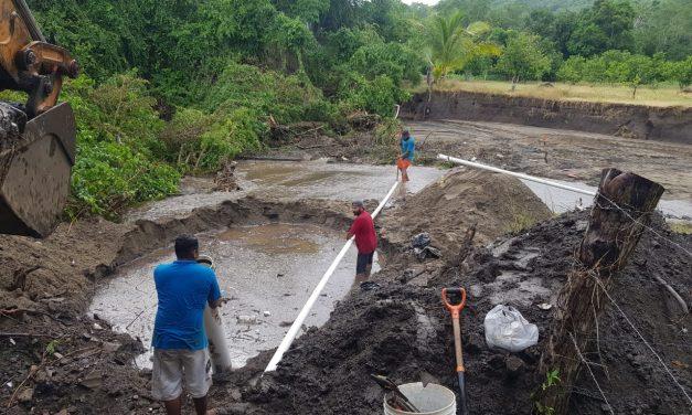 Trabaja CAPDAM intensamente para restablecer el servicio de agua y reparación de fugas