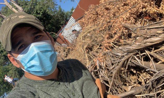 Atiende Chuy Dueñas acumulación de basura en escuela primaria de Villaizcalli
