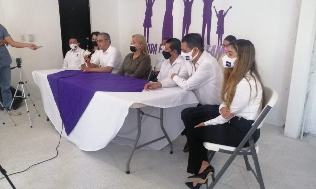 Presenta Partido Encuentro Solidario a la dirigencia municipal  de V de A