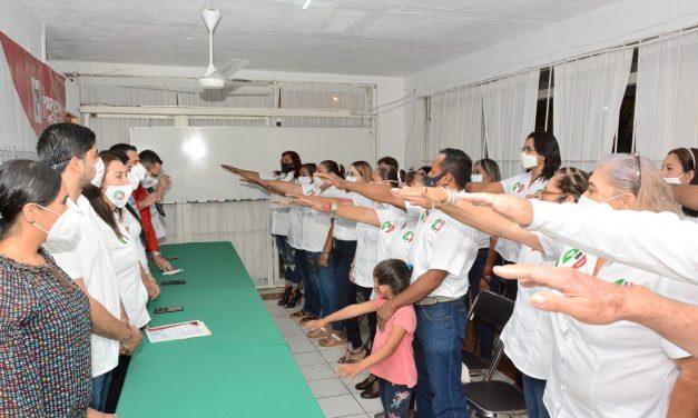 Entregan nombramientos a integrantes de la nueva estructura municipal y movimientos nacionales de la CNOP de Villa de Álvarez