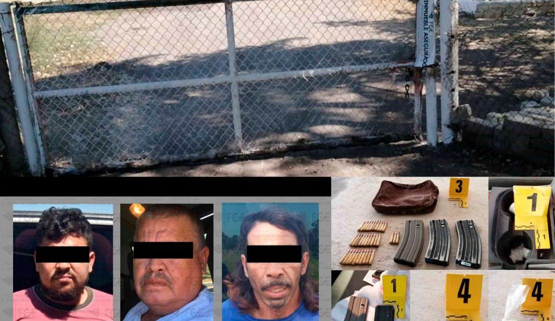 FGE detiene a 3 en Las Guásimas; asegura vehículos y droga, además incauta inmueble y cartuchos para armas de fuego