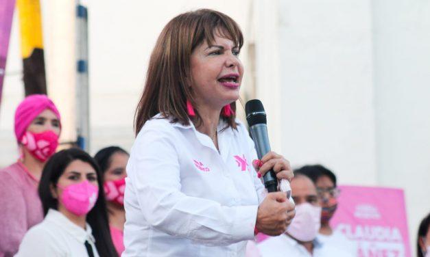 Participa Claudia Yáñez en el cierre de campaña de Roberto Rolón en Villa de Álvarez