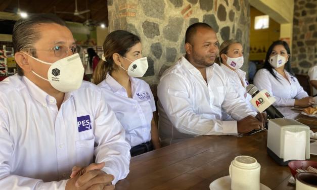 Sí va Santiago Benuto por la presidencia de Cuauhtémoc, anuncia PES