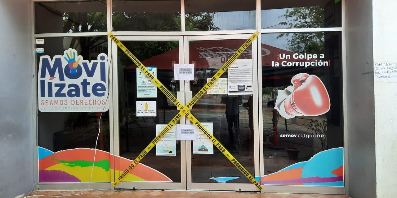 Cierran oficinas de Movilidad en Manzanillo para evitar contagios