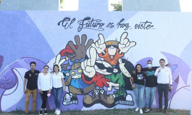 """Ayuntamiento de Colima inaugura """"Mural de las Juventudes con Valor"""""""