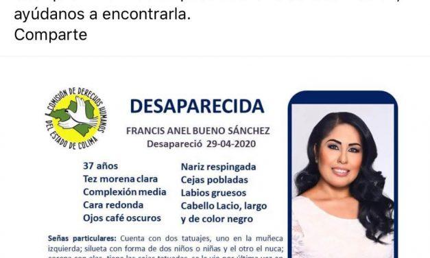 CDHEC, pide apoyo para localizar a la diputada Anel Bueno