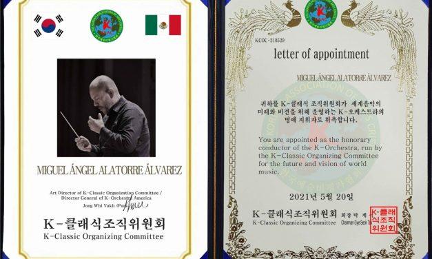 Colimense es invitado a participar como director honorario de la K-Orchestra en Corea