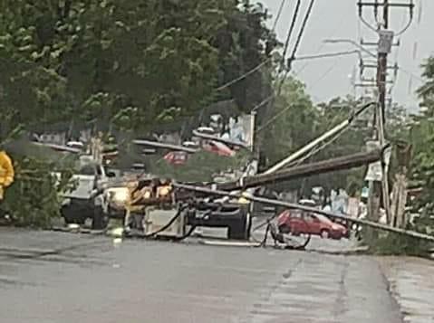 """Resiente Manzanillo los estragos por el huracán """"Nora"""", se registra caída de árboles"""