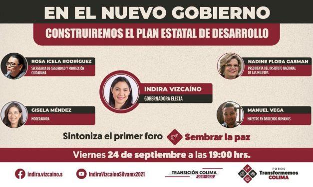 Titular de la Secretaría de Seguridad y Protección Ciudadana, Rosa Icela Rodríguez, estará en el primer foro Transformemos Colima