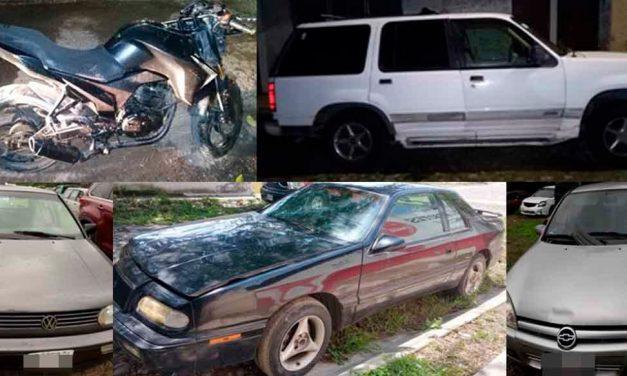 Recupera la Fiscalía General del Estado, cuatro vehículo y una motocicleta robados