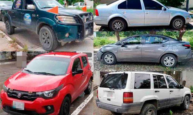 Otros 5 vehículos son asegurados por la FGE
